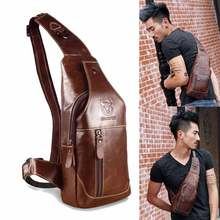 Buy 2017 Brand Men's Genuine Leather Bags Men's Shoulder Messenger Casual Bag Genuine Leather Mens Crossbody Bag Chest Pack Men Bags for $28.64 in AliExpress store