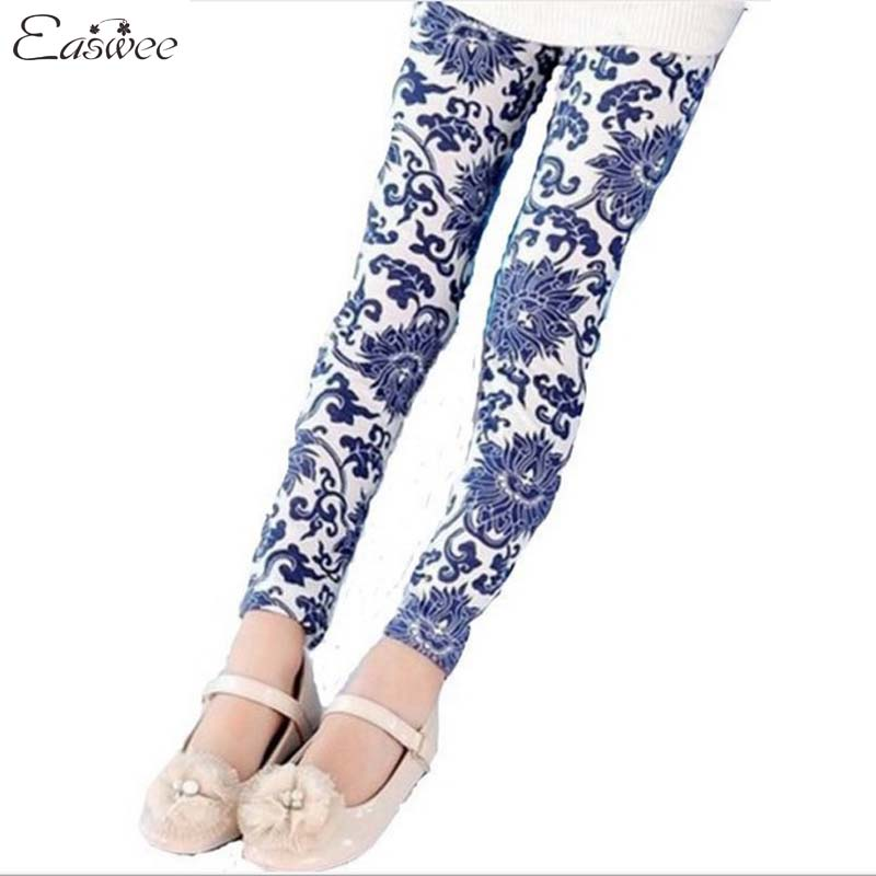 Retail 1PC Childrens Fashion 2014 Flower Print Cotton Leggings for Girls Spring Autumn Wear CCC319<br><br>Aliexpress