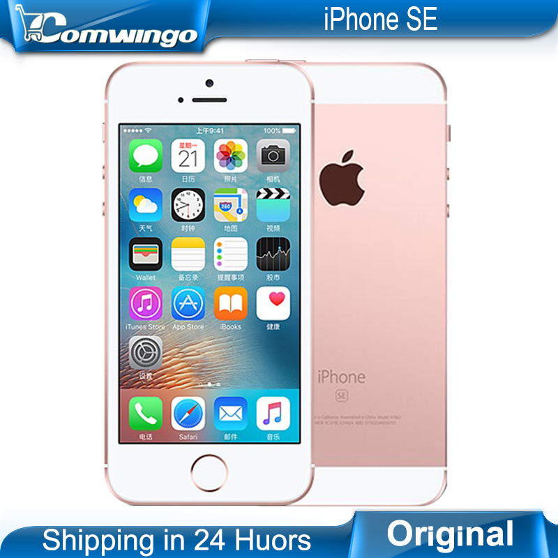 Original Apple iPhone SE Cell Phones LTE 4.0' 2GB RAM 16/64GB ROM A9 iOS 9.3 Dual-core Touch ID Mobile Phone(China (Mainland))