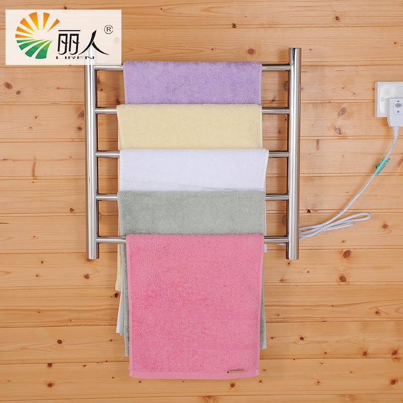 LiRen Brand New LR-GH-4R 500mm(W) x 510mm(H) bright finish polished straight wall mount heating radiator towel bar towel warmer(China (Mainland))