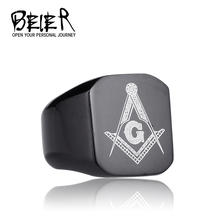 316L Stainless Steel Masonic Ring for Men master masonic signet ring free mason ring jewelry BR8