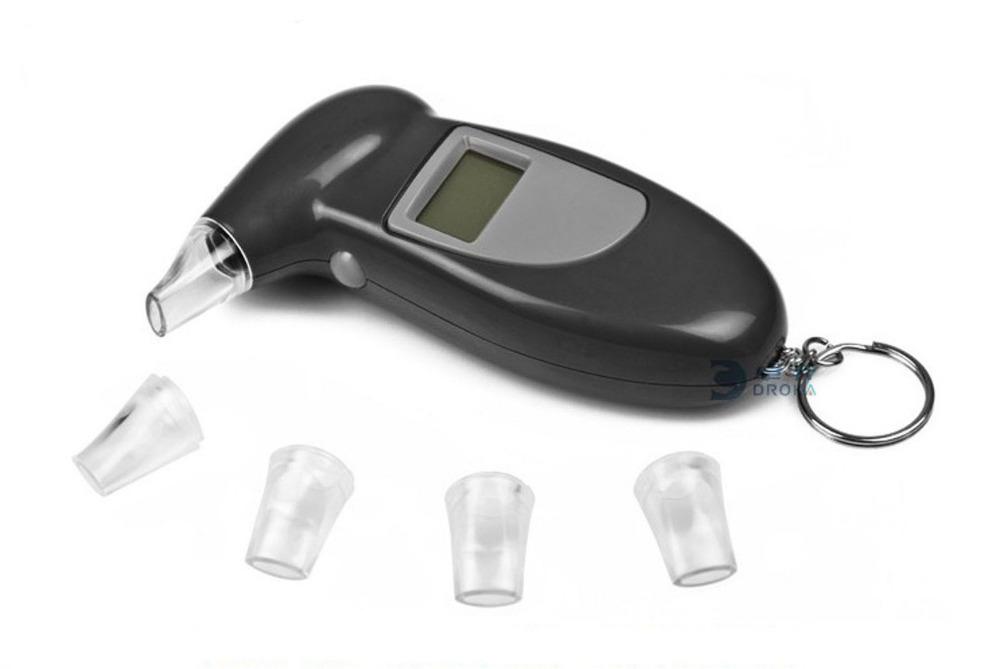 free shipping Digital LCD Alcohol Breath Tester Analyzer Breathalyzer Detector Test Keychain(China (Mainland))