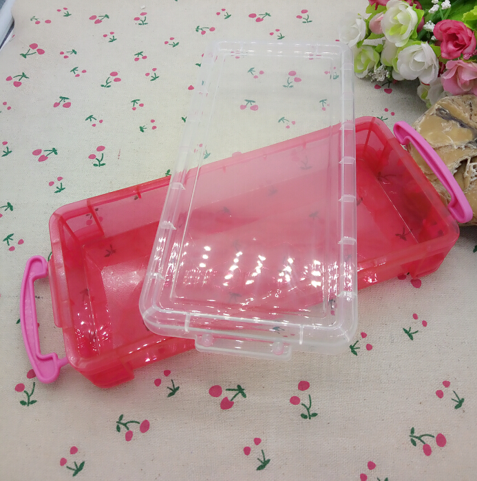 1pc rectangle transparent plastic home storage box tableware beads buttons medicine storage box organization A211(China (Mainland))
