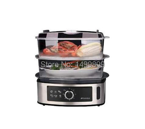 High quality large capacity double layers multifunctional steamer dry resistance electric steamer(China (Mainland))