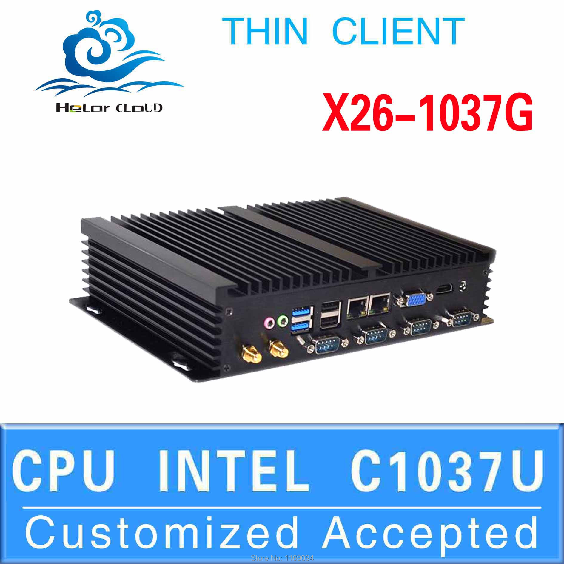 High Performance desktop pc linux embedded thin client cheap mini pc X26-1037G c1037u support Home Premium(China (Mainland))