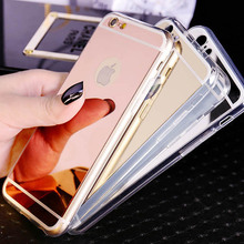 Buy Luxury Rose Gold Plating Mirror Case Iphone 6S Soft TPU Cover Iphone 6S 7 Plus 5 5S Ultra Slim Clear Shell Phone Cases for $0.69 in AliExpress store