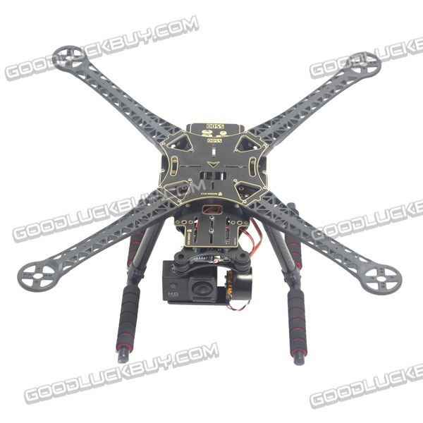 S500 FPV Quadcopter Frame Kit with PCB Board Carbon Fiber 170mm Landing Skid Gear Black(China (Mainland))
