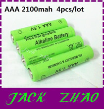 New 4pcs/lot 2100mah aaa rechargeable battery 1.5v Alkaline baterias rechargeable for  Remote Control Toy cameras free shipping(China (Mainland))