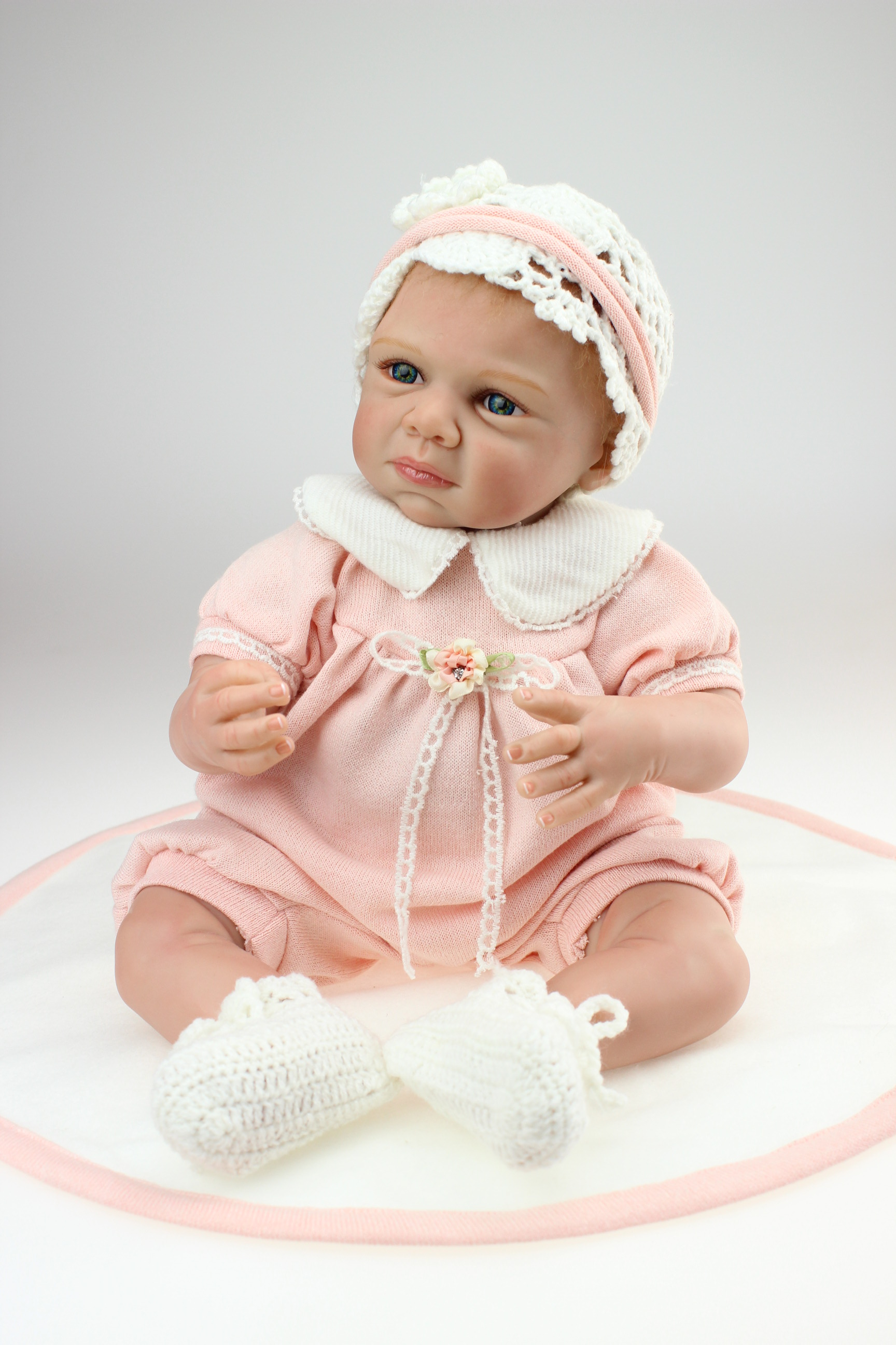 22 inch Reborn baby dolls 50cm silicone reborn baby dolls baby vinyl handmade lifelike baby doll body toys
