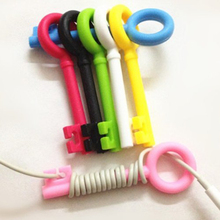 Cute Key Style Earphone Cable Cord Organizer Holder Winder For MP3 Phone Tablet MP4 MP5 Computer Headphone Wire Clip Kawaii