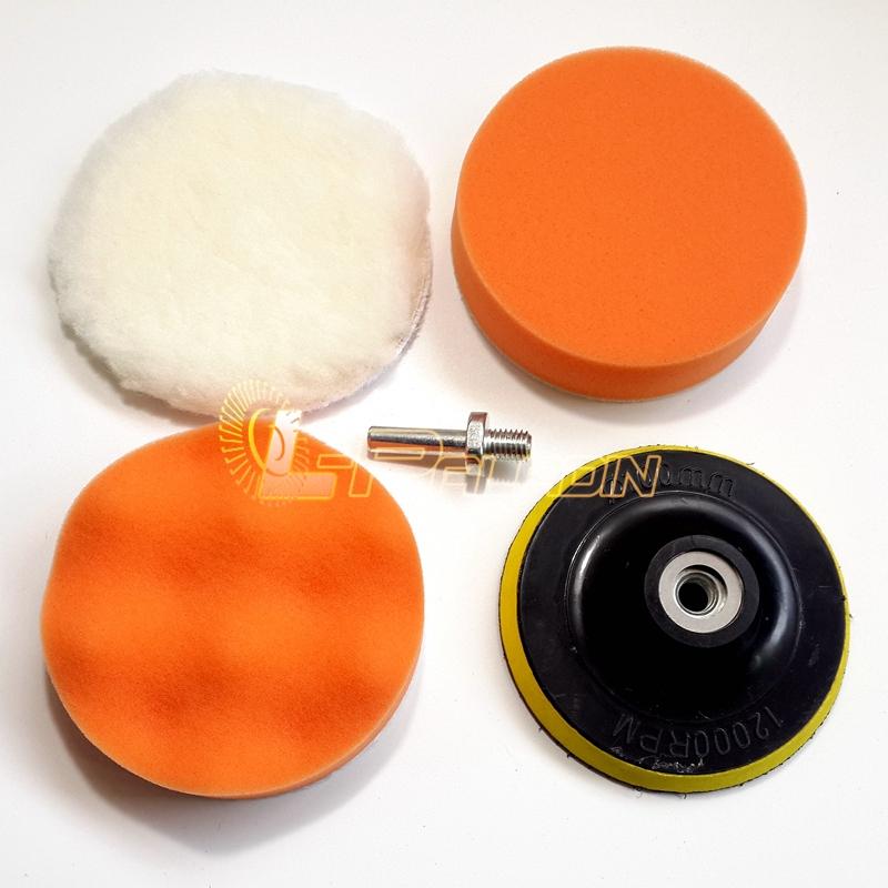 5 в 1 воском губка колеса шар шерсть на липучке шлифовальная подошва шатунный дрель стать полировщик