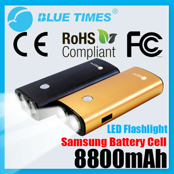 Portable 4400mAh Power Bank External Battery Pack for Mobile Phone iPhone Smartphone with LED Flashlight Torch