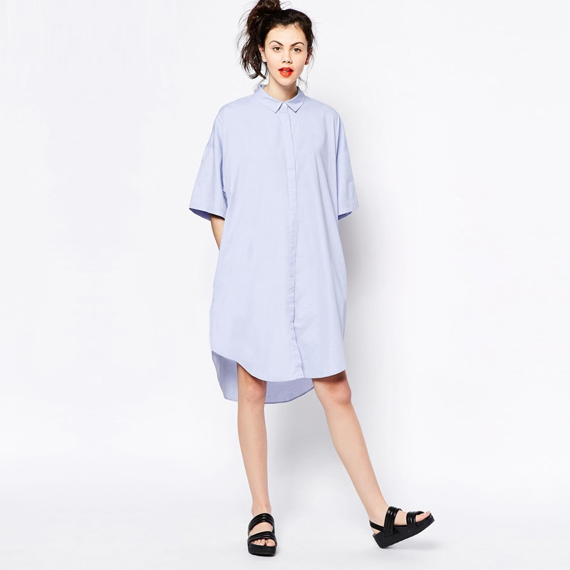 Womens Button Down Boyfriend Shirt Dress Long Sleeve Basic Blouse Tunic $ 23 99 Prime. out of 5 stars MISS MOLY. Clearance Women's Blouse and Tops T Shirts. from $ 5 99 Prime. 4 out of 5 stars 8. Plus Size Women Chiffon Blouse Tops 3/4 Sleeve V Neck T Shirt(M-3XL) from $ 8 99 Prime. out of 5 stars