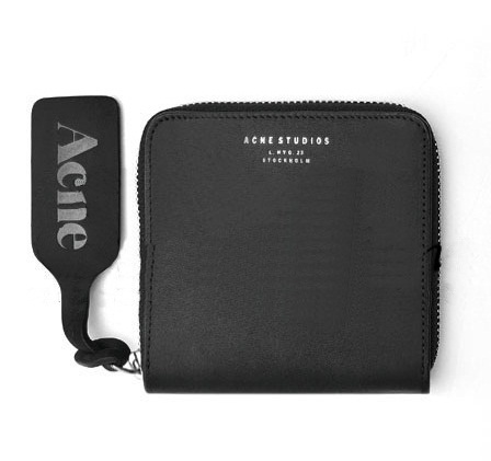 ACNE Genuine Leather Men Wallets Sweden Famous Brand Designer Wallet Card Holder Coin Purse With Logo High Quality Cartera Bolsa(China (Mainland))