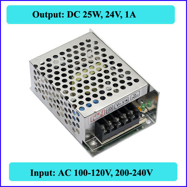 25W 24V 1A Switching Power Supply LED transformer input AC110V-240V,output switching Strip light - QX Store store