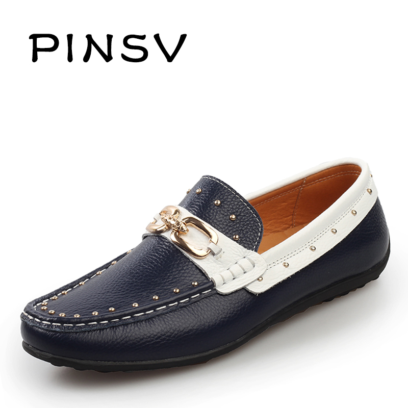 pinsv brand casual slip on loafer shoes mens