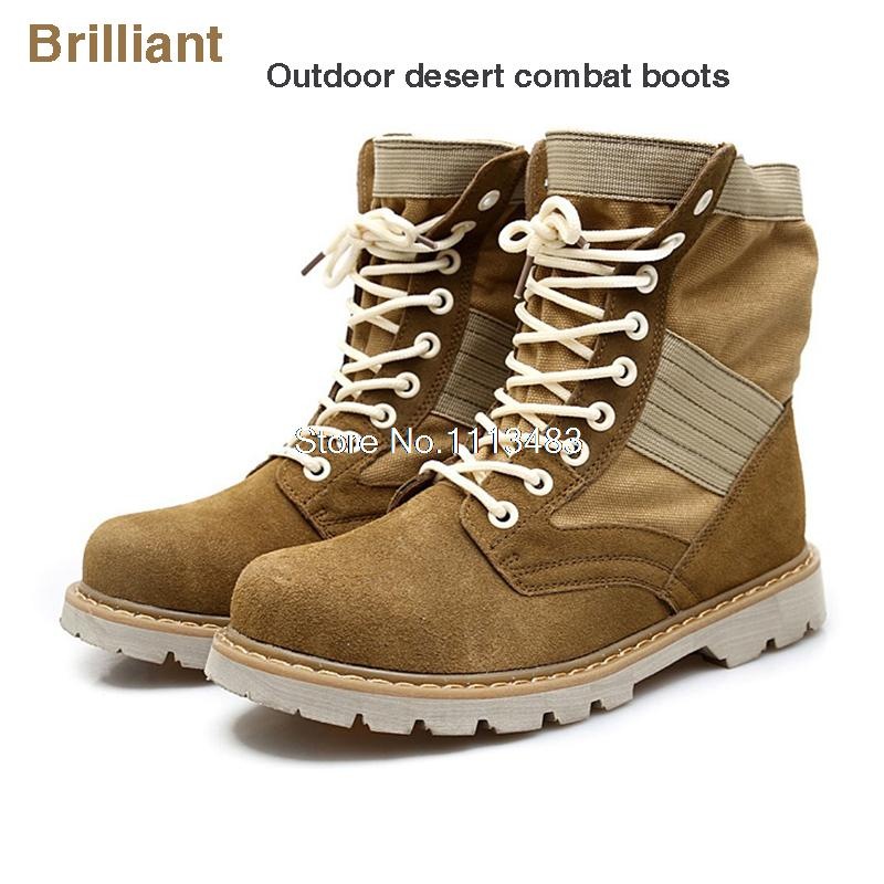 autumn boots Military Boots outdoor Desert army male shoes Mens leather Tactical Police H185 - Brilliant Trade Co., LTD. store