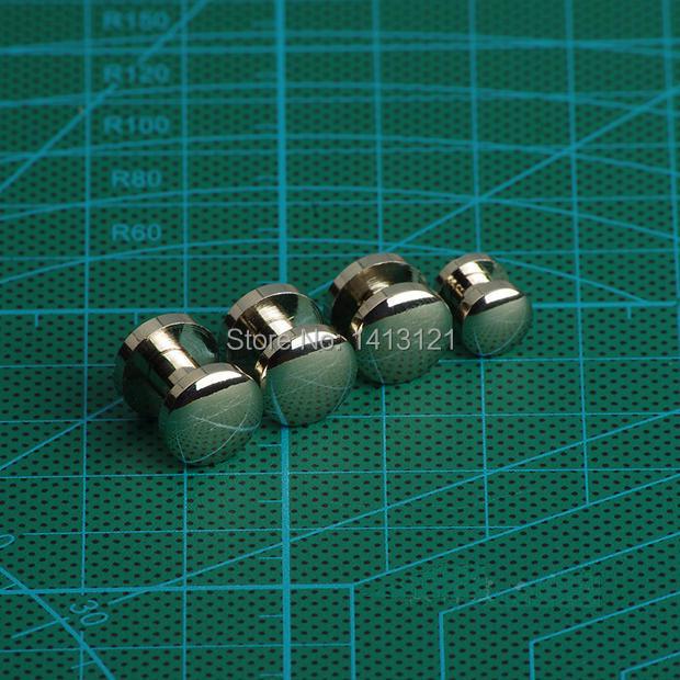 free shipping dubble arc 10*4*8mm wallet bag screw brass belt Rivet diy handmade leather hardware chrome plated fastener part(China (Mainland))