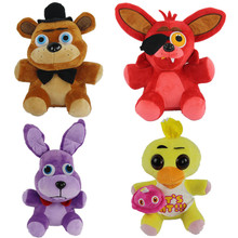 2016 new hot 500pcs/lot wholesale 4styles activity gifts Toy bear rabbit dolls Five nights at freddy's plush toys 25cm by EMS(China (Mainland))
