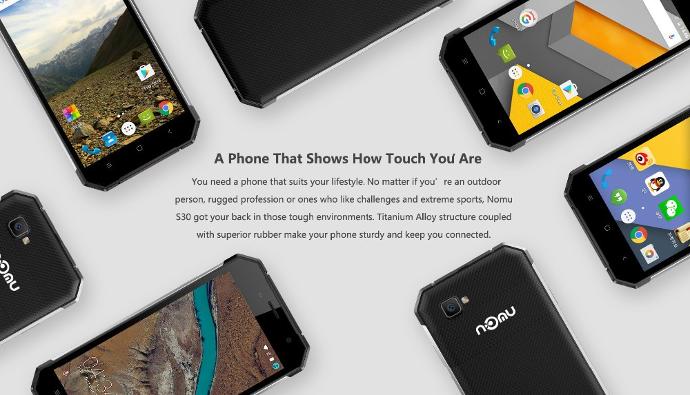 original IP68 Waterproof Nomu S30 4G TLE Smartphone Android 6.0 MTK6755 Octa Core 4GB+64GB 5000mAh 1920×1080 5.5″ Mobile Phone