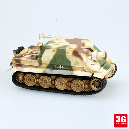easy model 1/72 scale miniature military 36104 scale vehicle German assault tiger Mortar assembled model scale military toys(China (Mainland))