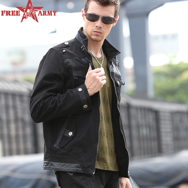 Male's jackets army green jackets Military Men Black Bomber Jacket Outdoor Slim windbreaker denim jackets and coats P7(China (Mainland))