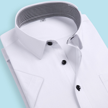 7 Colors 2016 Brand Mens Shirts Plus Size Solid Shirt Men Slim Fit Short Sleeve Mens Dress Shirts Chemise Homme Wholesale