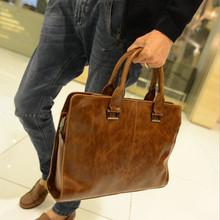 leather bagMen briefcase, leisure handbag, men shoulder bag, handbag business work, new fashion briefcase(China (Mainland))