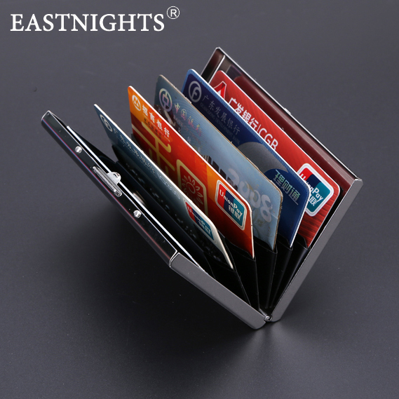 EASTNIGHTS 2016 new arrival High-Grade stainless steel men credit card holder women metal bank card case card box TW2703(China (Mainland))