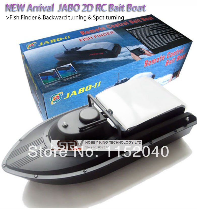 2014 Newest JABO-2D jabo 2D remote control rc Bait Boat RTR With Fish Finder &amp; Backward turning &amp; Spot turning upgraded 2B 2BS<br>