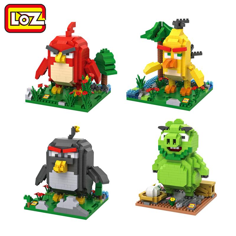 LOZ Movie Pigs and Birds Mini Diamond Building Blocks Children Intelligence Models Building Toy No Retail Box(China (Mainland))