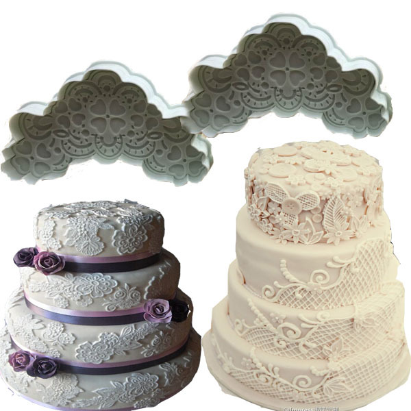 Гаджет  TANGCHU Lace Decorating Cake Cookies Fondant Plunger Cutter Mold  Cookie Biscuit Cake Lace  Mold cake decorating tools2 Pcs/set None Дом и Сад