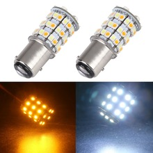 Buy New! 2PCS 12V 1157 BAY15D 3157 7443 3528 60 SMD Dual Color Yellow/White Switchback Car Turn Signal Brake LED Light Bulb Lamp for $6.65 in AliExpress store