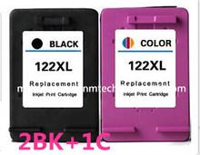 2PK Black +1PK Tri-color Compatible Ink Cartridge for HP 122 122 XL 122XL CB563HE CB564HE for HP Deskjet 1050 2050 2050s Printer