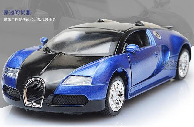 High Quality Model Bugatti Veyron Diecast Car Model With Sound&Light Collection Car Toys Vehicle Gift,Children's Toys