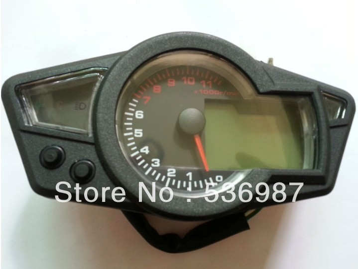 11K RPM LCD Blue Backlight Digital Odometer Speedometer Tachometer Motorcycle - shenzhen xingchen store