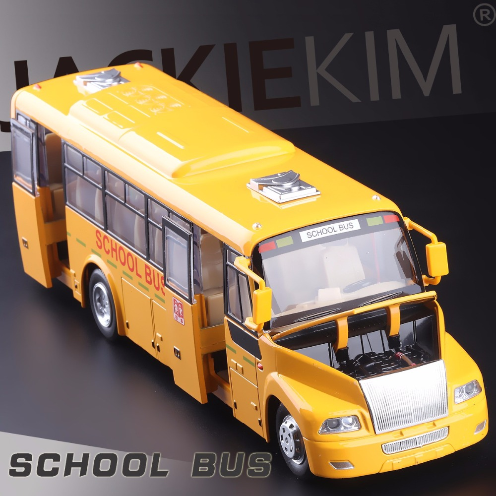 High Simulation Model Toys Big Nose American School Bus Model Alloy Bus Model Excellent Gifts(China (Mainland))