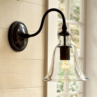 Free shipping Antique rustic american style iron glass wall lamp hallway lights balcony wall lamp