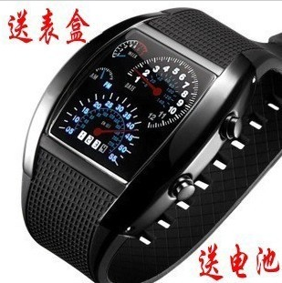 Sector led watches personalized men's fashion led electronic personalized thepole speed sports car instrument tray283