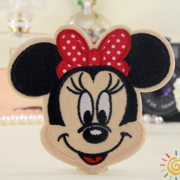 ---N0 292 design cute mouse Embroidered patches glue, iron-on /sew-on girls cloth garment shoes bags - kele clothing &accessory store