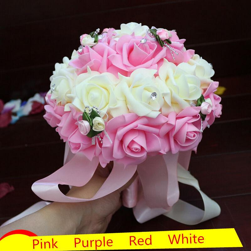 achetez en gros rouge fleurs bouquet en ligne des grossistes rouge fleurs bouquet chinois. Black Bedroom Furniture Sets. Home Design Ideas