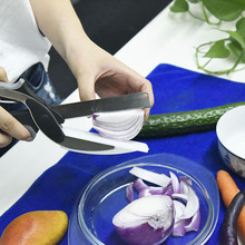 2 in 1 Kitchen Knife & Cutting Board Scissors Stainless Steel Kitchen Food Cutter for Meat Vegetable KT0180(China (Mainland))