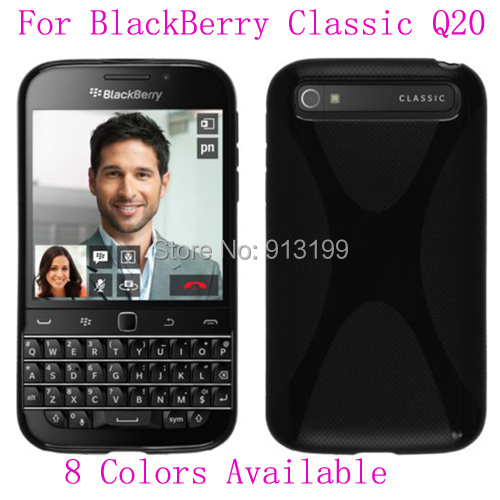1Pcs X Line Anti-skid Frosted Soft Gel TPU Silicone Case Skin Cover Back Pouch For BlackBerry Classic Q20 Mobile Phone(China (Mainland))
