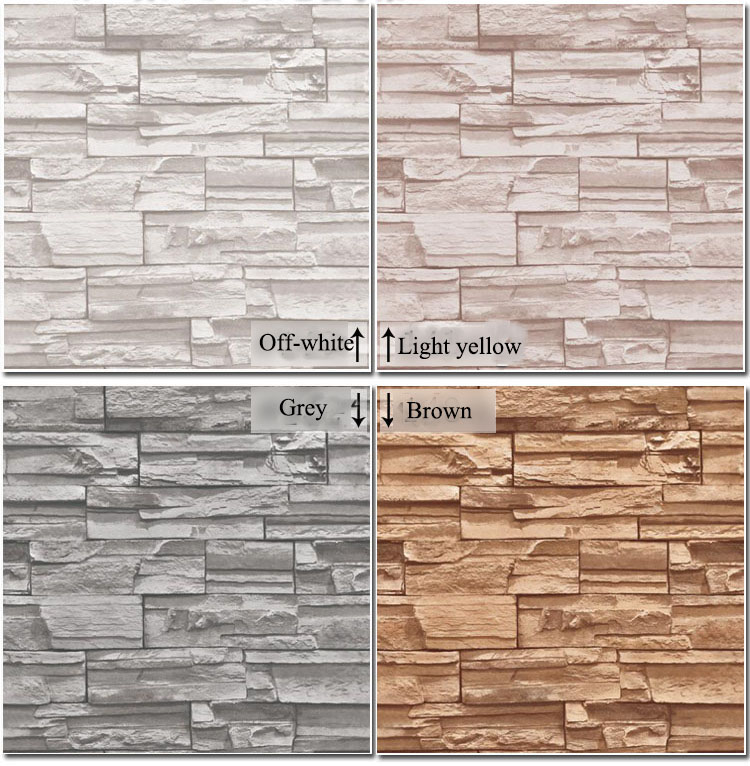 Vinyl Modern Vintage 3D effect Imitation Stone Brick Wall Wallpaper Retro Background Roll Brick Wall paper For Restaurant,loft(China (Mainland))