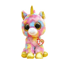 2015 Hot Ty Beanie Boos Big Eyes Small Unicorn Plush Toy Doll Kawaii Stuffed Animals Collection Lovely Children's Gifts L19