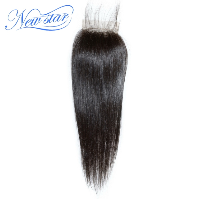 new star free style peruvian virgin straight hair top lace closure natural off black 8-18inch(30-55g/pcs) & DHL free shipping