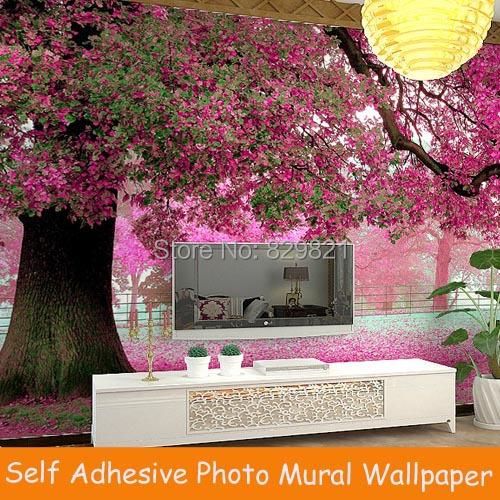 Self adhesive photo murals wallpaper 3d living room pvc - Bande adhesive murale ...