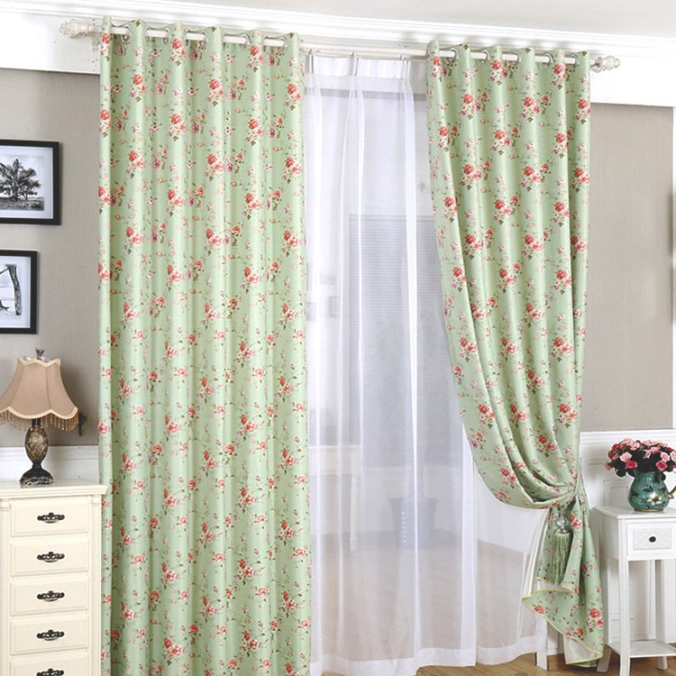3m boutique pastoral floral window curtain bedroom living for M s living room curtains