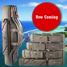 2016 new fashion Outdoor Fishing Bags 80cm 90cm 1m 1.2m 3 Layers Rod bag Large Capacity Tackle Bags Fishing Backpacks(China (Mainland))