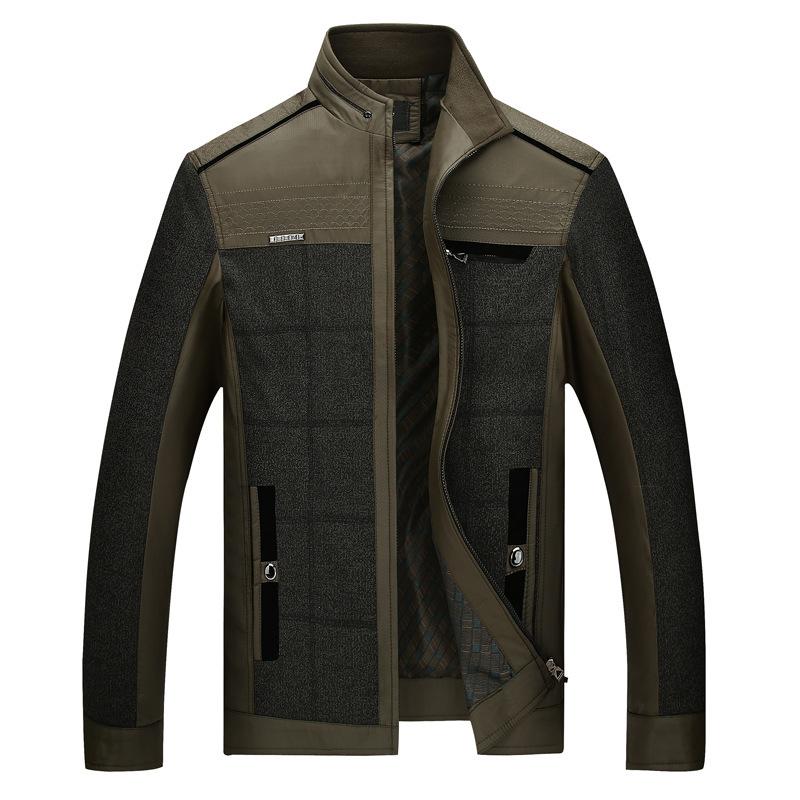New Fashion Asian Size Men Jackets Fashion Patchwork Formal Men Clothing Veste Homme Jaqueta De